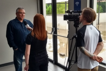 Paulo Kendzerski em entrevista para TV Univates