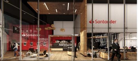 Santander inaugurou um banco que é uma cafetaria, ou uma cafetaria que é um banco?